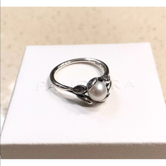 a1e679a3e Pandora Jewelry | Luminous Leaves White Pearl Ring 190967p | Poshmark